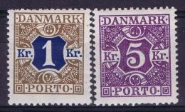 Denmark Mi  18 + 19  MH/* Flz/ Charniere  1921 - Postage Due