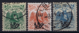 Albania Mi 77 I + 78 I + 79 I  Obl./Gestempelt/used  1922 - Albanien