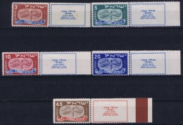 Israel : Mi Nr 10 - 14  Stamps Are Postfrisch/neuf Sans Charniere /MNH/**  Mi Nr 10 = MH/* Flz/ Charniere Hinges On Tabs - Israel