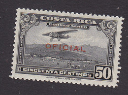 Costa Rica, Scott #CO7, Mint Hinged, Plane Overprinted, Issued 1934 - Costa Rica