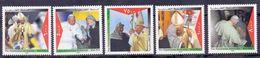 2000 Palestinian Pope John Paul II Visit To Holy Land Complete Set 5 Values MNH - Palestine