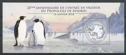 TAAF: Nouveauté 2018 **  Protocole De Madrid - Pingouins & Manchots