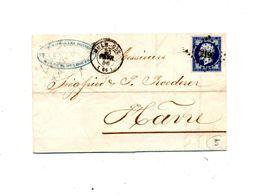 Lettre Cachet Mulhouse Losange Sur Napoleon + Convoyeur - Postmark Collection (Covers)