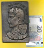 """Grosse Plaque Du 601° R.C.R. Devise """"TOUJOURS TOUT DROIT"""" Bronze?. (S.L) - Other"""
