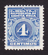 Costa Rica, Scott #J10, Mint Hinged, Postage Due, Issued 1915 - Costa Rica