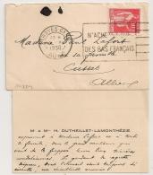 N'ACHETEZ QUE DES BAS FRANCAIS, TROYES GARE Aube Sur Petite Enveloppe. 1936. - Oblitérations Mécaniques (flammes)