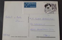 Australia 1998 Postcard Prepaid Sent To Italy - Postal Stationery