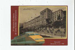 BEAUSOLEIL CARTE SALON 1988 ( VUES TGV ET MONTE CARLO HOTEL RIVIERA PALACE) - Frankreich