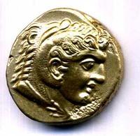 MEDAILLON GREC   ETAIN DORE REPLIQUE 28mm - Monnaies Antiques