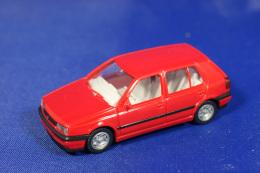 WIKING WERBEMODELL VW Golf In Rot 1/87 OVP - Road Vehicles