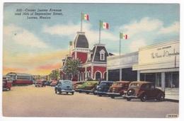 AK Corner Juarez Avenue Mexiko Gasthaus Oldtimer (7807) - Mexique