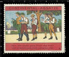 German Poster Stamp, Reklamemarke, Cinderella, Scout, Erkunden, Pfadfinder, Scout Posing, Erkunden Posierend - Scoutismo