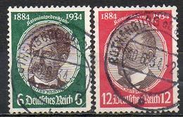 ALLEMAGNE - Troisième Reich - 1934 - N° 500 Et 501 - (Effigies Des Gouverneurs Coloniaux) - Germania