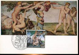 30614 Vaticano,  Maximum  1994 Painting Of Michelangelo The Fall Of Man, La Chute Du Premier Homme,  Sixtine Chapel - Arts