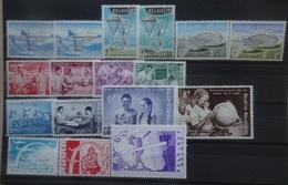BELGIE 1960  Nr. 1133-38 / 1139-46 / 1147-49      Postfris **   CW  44,00 - Unused Stamps