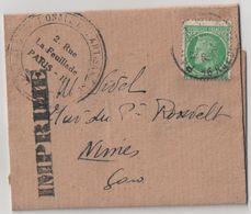 """Enveloppe/Timbrée 1948 """"Céres De Mazelin - Y&T N°680"""" F.N.A.T. De PARIS à NIMES - Marcophilie (Lettres)"""