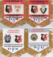 Lot De 4 Fanions De RENNES En Coupe UEFA 2005 - Habillement, Souvenirs & Autres
