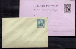 Diégo-Suarez Deux Entiers Postaux Anciens Neufs.  Belle Qualité, B/TB. A Saisir! - Diego-suarez (1890-1898)