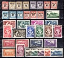 Monaco Belle Petite Collection Neufs **/* 1933/1939. Bonnes Valeurs. B/TB. A Saisir! - Collections, Lots & Series