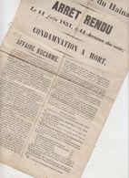 Placard Assises Hainaut 1851 - Decrees & Laws