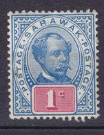Sarawak 1901 Mi. 34    1c. Sir Charles J. Brooke, MNG (*) - Sarawak (...-1963)