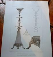 PLANS - MUSEE Du VATICAN - LOT 4 Plans, Encyclopédie D'Architecture XIXe Siècle, Candelabre, Trépied, Vase,Terres Cuites - Architecture