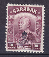 Sarawak 1947 Mi. 150    1c. Sir Charles J. Brooke Overprinted W. Monogram Of King George VI., MH* - Sarawak (...-1963)