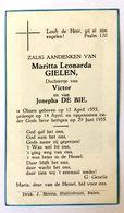 Doodsprentje / Image Mortuaire - Kind / Enfant - Maritta GIELEN (De Bie) °Olmen, 1955 - +1955 - Religión & Esoterismo