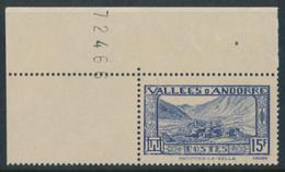 ANDORRA 1937- 43 CHAPPELLE DE MARITXELL 15F - Yvert 91**MNH - Andorre Français