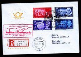 A5146) DDR R-Brief Zittau Postkutschfahrt 28.6.55 Mit Mi.474 Ua. - DDR