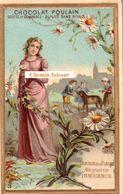 Chromo CHOCOLAT POULAIN - Langage Des Fleurs : MARGUERITE = INNOCENCE - Scans Recto-verso - Poulain