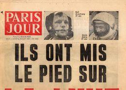 JOURNAL PARIS JOUR N° 3063 / 21 Juillet 1969 - ILS ONT MIS LE PIED SUR LA LUNE + N° 3064 Du 22/Juillet 69 - 1950 à Nos Jours