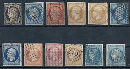 Beau Lot De Classiques Non Dentelé , état Standard Ou 2èm Choix . Cote Environ 1320 Euros . - 1849-1850 Cérès