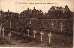 LIEVIN CALONNE CIMETIERE FRANCAIS ET ANGLAIS (DECEMBRE 1919) REF 55130 - Cimetières Militaires