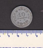 Monnaie Necessité Ville De .Gex (01) Ain .. 10c 1919 Aluminium - Monetary / Of Necessity