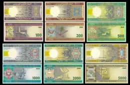 Mauritania 100-5000 Ouguiya 2004-09 UNC - Mauritanië