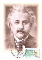 6208  Einstein: C. Maximum, Oblitération Concordante 2004 - Maximum Card With Special Cancel From Cluj Napoca, Romania - Albert Einstein