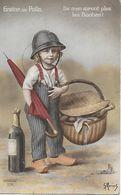 WW1 1914-18 Patriotique Illustrateur Morinet GRAINE DE POILU ILS N'EN AURONT PLUS LES BOCHES ! - Patriottisch