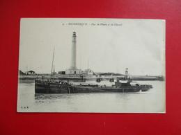 CPA 59 DUNKERQUE VUE DU  PHARE ET DU CHENAL  BATEAU - Dunkerque