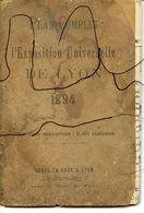 LYON. Plan Complet De L'exposition Universelle De LYON 1894. - Europe