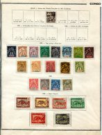 Congo                            Collection Sur Feuilles D'album  Tous états   ( 6 Scans ) - Collections (without Album)