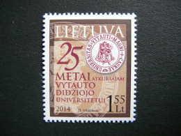 Vytautas Magnus University Restoration # Lietuva Litauen Lituanie Litouwen Lithuania # 2014 MNH # Mi. 1154 - Lithuania