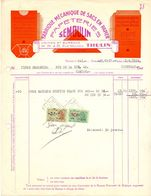 Factuur Facture - Papeteries Papiers Cartons - Semoulin à Thulin - 1954 - Printing & Stationeries