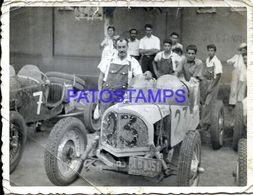 87040 AUTOMOBILE OLD CAR RACE AUTO DE CARRERA & MECHANIC BREAK PHOTO NO POSTAL POSTCARD - Fotografie