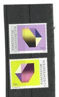 Liechtenstein 2012 Satz ,Set Of 2 Stamps Mi. 1654 - 1655 Druckkunst - Crystal B, Crystal G ( 8 - Liechtenstein