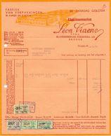 Factuur Facture - Fabriek Verpakkingen Papier Karton Ets Leon Viaene - Brugge 1959 - Imprimerie & Papeterie