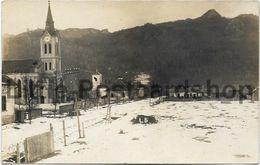 Foto AK Tölgyes Kirche Strasse Und Häuser 1917 Mogyoród Ungarn - Guerra 1914-18