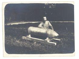 Photo Soldat / Obus, 1916, Ww1  ( PH ) - Guerre, Militaire
