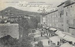 Privas (l'Ardèche Pittoresque) - Cours De L'Esplanade Et Le Mont Toulon - Edition C. Artige Fils - Carte M.T.I.L. N° 58 - Privas