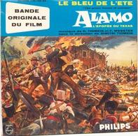 45 TOURS D. TIOMKIN BOF ALAMO PHILIPS 435120 OUVERTURE / DEGUELLO / LE BLEU DE L ETE / HERE S TON THE LADIES + 1 - Filmmusik